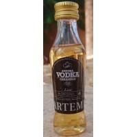 Artemi - Aniuska Vodka Caramelo Wodka-Karamell-Likör 24% Vol. 50ml Miniaturflasche produziert auf Gran Canaria