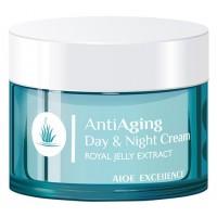 Aloe Excellence - Anti Aging Day & Night Cream Antifalten-Tages- & Nachtcreme 50ml Dose produziert auf Gran Canaria