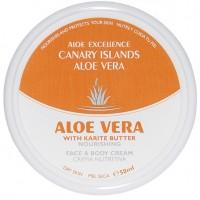 Aloe Excellence - Aloe Vera With Karite Butter Nourishing Creme 50ml Dose produziert auf Gran Canaria