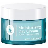 Aloe Excellence - Moisturising Day Cream Aqua Thermal Tages-Gesichtscreme 50ml Dose produziert auf Gran Canaria