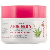 Aloe Excellence - Aloe Vera With Mosqueta Rose Oil Regenerative Creme 300ml Dose produziert auf Gran Canaria
