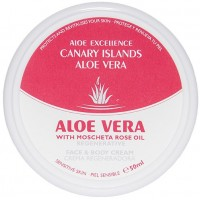 Aloe Excellence - Aloe Vera With Mosqueta Rose Oil Regenerative Creme 50ml Dose produziert auf Gran Canaria