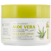 Aloe Excellence - Aloe Vera With Olive Oil Moisturing Face & Body 300ml Dose produziert auf Gran Canaria