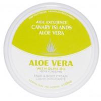Aloe Excellence - Aloe Vera With Olive Oil Moisturing Creme 50ml Dose produziert auf Gran Canaria
