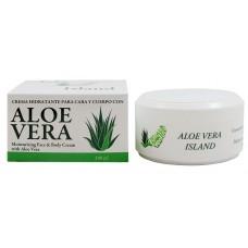 Aloe Vera Island - Crema Hidratante Cara y Cuerpo Eco Bio Aloe Vera Feuchtigkeitscreme 100ml Dose produziert auf Fuerteventura