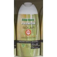 Aloe Vera Premium - Solar 30SPF Protection Alta 25% Aloe Vera Sonnencreme 250ml produziert auf Gran Canaria