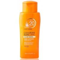 Canarian Suncare - Aloe Vera Sun Lotion SPF 20 Sonnencreme Lichtschutzfaktor 20 200ml produziert auf Gran Canaria