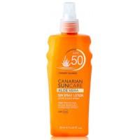 Canarian Suncare - Aloe Vera Sun Spray Lotion SPF 50 Sonnencreme Lichtschutzfaktor 50 200ml produziert auf Gran Canaria