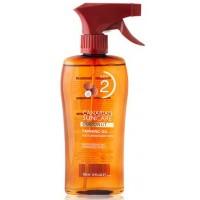 Canarian Suncare - Coconut Tanning Oil SPF 2 Kokosnuss-Bräunungsspray Lichtschutzfaktor 2 200ml produziert auf Gran Canaria
