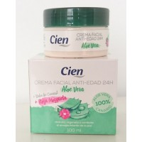 Cien - Crema Facial Anti-Edad Aloe Vera Rosa Mosqueta Baba de Caracol 100ml produziert auf Teneriffa