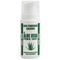 Aloe Canarias Calidad - Aloe Vera Puro 100% Gesichtscreme Spenderflasche 100ml produziert auf Teneriffa