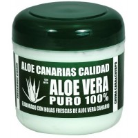 Aloe Canarias Calidad - Aloe Vera Puro 100% Körpercreme 300ml Dose produziert auf Teneriffa