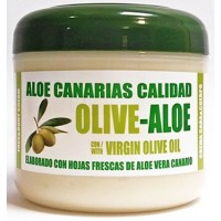 Aloe Canarias Calidad - Oliv-Aloe Crema Cara Y Cuerpo Con Aceite de Oliva Y Aloe Vera Körpercreme 300ml Dose produziert auf Teneriffa
