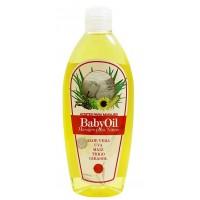 Cosmonatura - Aceite Baby BabyOil Aloe Vera, Uva, Maiz 250ml Quetschflasche produziert auf Teneriffa