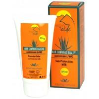 Thermal Teide - Protector Solar SPF40 Aloe Vera Sonnenschutzcreme LSF 40 150ml Tube produziert auf Teneriffa