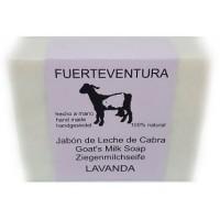 Jabon Fuerteventura - Jabon de Leche de Cabra y Lavanda Lavendel Ziegenmilchseife mit Lavendel 110g produziert auf Fuerteventura