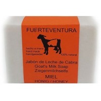 Jabon Fuerteventura - Jabon de Leche de Cabra y Miel Ziegenmilchseife mit Honig 110g produziert auf Fuerteventura