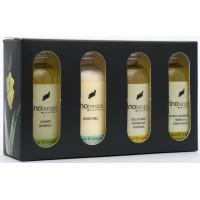 vinoterapia - Caja Malvasia Volcanica Pflegeset mit Weintraubenmost & Aloe Vera Bad 4x 50ml Glas produziert auf Lanzarote