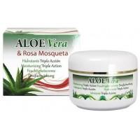 Riu Aloe Vera - Aloe Vera & Rosa Mosqueta Aloe-Hagebutten-Feuchtigkeitscreme 200ml Dose produziert auf Gran Canaria