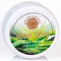 Sublime Canarias - Aloe Vera Manos y Cuerpo Hand- & Körpercreme 200ml Dose produziert auf Gran Canaria