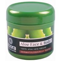 abora - Aloe Face and Body Cream dermatologically tested Aloe Vera-Creme 300ml Dose produziert auf Teneriffa