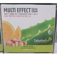 Tabaibaloe - Multi Effect Facial Cream SPF15 Aloe Vera Gesichtscreme Sonnenschutz 100ml produziert auf Teneriffa