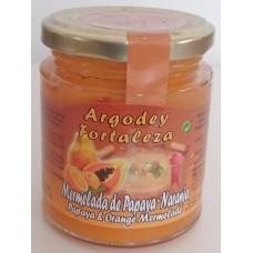 Argodey Fortaleza - Mermelada de Papaya-Naranja Papaja-Orangen-Marmelade 200g produziert auf Teneriffa