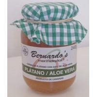 Bernardo's Mermeladas - Platano / Aloe Vera Bananenkonfitüre mit 20% Aloe Vera 240g produziert auf Lanzarote