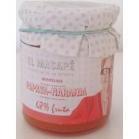 El Masapè - Mermelada Papaya-Naranja 68% Fruta Papaya-Orangen-Marmelade 290g produziert auf La Gomera