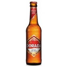 Dorada - Pilsen Cerveza Bier 4,7% Vol. 330ml Glasflasche produziert auf Teneriffa