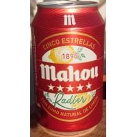Mahou - Cinco Estrellas Radler Cerveza Bier mit Zitronenlimonade 3,2% Vol. 6x 330ml Dose produziert auf Teneriffa