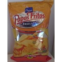 Emicela - Patatas Fritas Onduladas Chips geriffelt gesalzen Tüte 165g produziert auf Gran Canaria