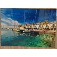 Tablas Puerto de Mogan Alto Brillo Hochglanzfoto auf Kunststoffplatte Bild Raumdeko 100x140cm