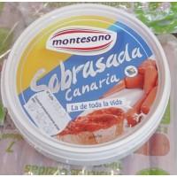 Montesano - Sabrasada Canaria Chorizo-Wurstpaté Becher 240g glutenfrei laktosefrei produziert auf Teneriffa (Kühlware)