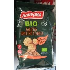 Bandama - Galletas Bio Lino y Canela Eco Vegan Bio-Kekse mit Leinsamen und Zimt 150g produziert auf Gran Canaria