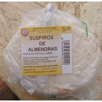 Dulceria Nublo - Suspiros de Almendras Bolsa ein Stück 80g Tüte produziert auf Gran Canaria