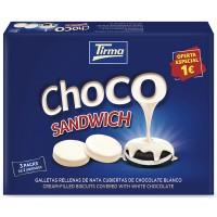 Tirma - Choco Sandwich Doppelkeks gefüllt, überzogen mit weißer Schokolade 3x 40g (120g) produziert auf Gran Canaria