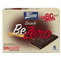 Tirma - Snack BeZero Galleta Banada En Chocolate Negro Sin Azucar Kekse mit Bitterschokolade zuckerfrei 6x17,5g 105g produziert auf Gran Canaria