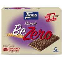 Tirma - Snack BeZero Galleta Banada En Chocolate Con Leche Sin Azucar Kekse mit Vollmilchschokolade zuckerfrei 6x17,5g 105g produziert auf Gran Canaria