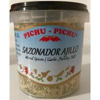 Pichu Pichu - Sazonador Ajillo Knoblauchgewürz gemahlen 100g Becher produziert auf Gran Canaria