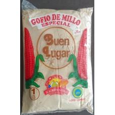 Buen Lugar - Gofio de Millo Especial Tostado Maismehl geröstet 1kg Tüte (ex Argentino) produziert auf Gran Canaria