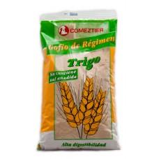 Comeztier - Gofio de Regimen de Trigo sin sal anidada Weizen-Gofio ohne Salz 500g Tüte produziert auf Teneriffa