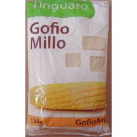 Tinguaro - Gofio de Millo geröstetes Maismehl 1kg Tüte produziert auf Teneriffa
