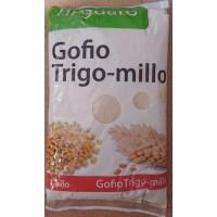 Tinguaro - Gofio de Millo-Trigo geröstetes Mehl aus Weizen und Mais 1kg Tüte produziert auf Teneriffa