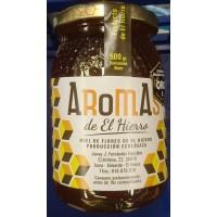 Aromas de El Hierro - Miel de Flores Ecologica Bio-Blütenhonig 500g Glas produziert auf El Hierro