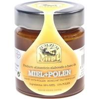 Zum-Zum Miel - Miel + Polen Bienenhonig mit Pollen Glas 340g produziert auf Teneriffa