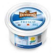 El Tofio - Queso de Cabra Fresco Ziegen-Frischkäse 410g Becher produziert auf Fuerteventura (Kühlware)