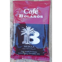 Cafe Bolanos - Cafe Molido de Tueste Natural 50% Torrefacto 50% Kaffee 250g Tüte produziert auf Gran Canaria