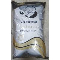 Cafe Algalia - Cafe Superior Arabica en grano tueste natural Röstkaffee ganze Bohnen 1kg Tüte produziert auf Gran Canaria