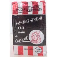 Cafe el Caracol - Café Moka el Caracol Mezcla 50% natural & 50% torrefacto Grano Röstkaffee gemahlen 250g produziert auf Teneriffa